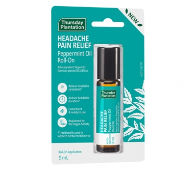 Headache Pain Relief Peppermint Oil Roll On