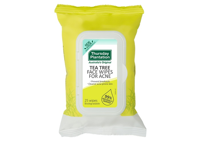 Thursday Plantation tea tree face wipes for acne 25 wipes